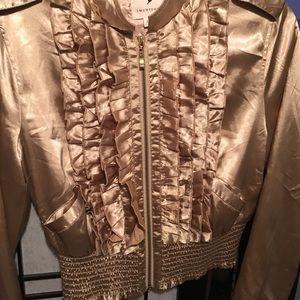 Jackets & Blazers - Gold silky jacket